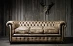 класна  кожена мека мебел честърфийлд
