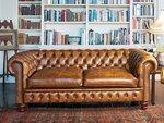 надеждна   мека мебел честърфийлд изкуствена кожа