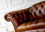 актуална мека мебел честърфийлд изкуствена кожа
