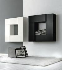 промоция черно-бели шкафове за хол